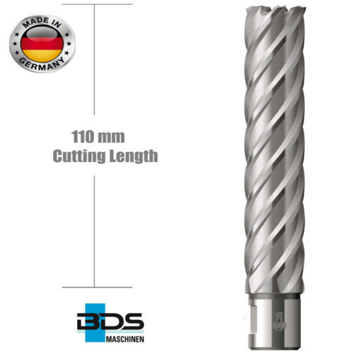 High Speed Steel Annular Cutters in 110 mm Cutting Length