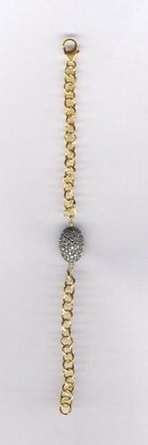 Silver Gold Plated Zircone Bead Bracelet