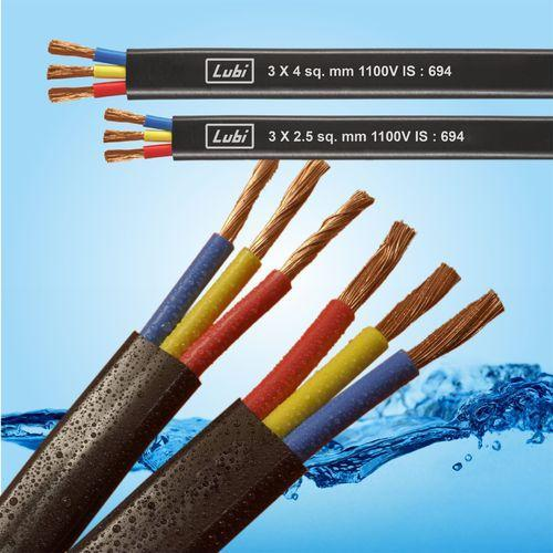 3 Core Flat Pvc Submersible Cables