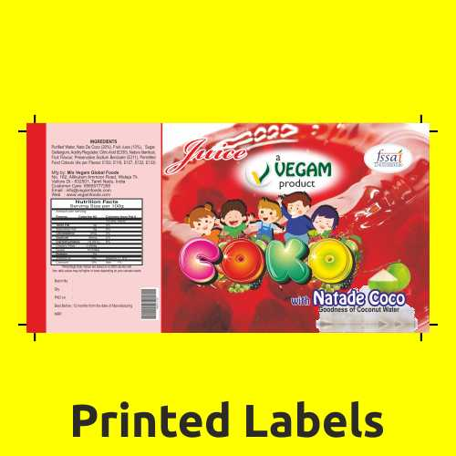 Adhesive Printing Labels