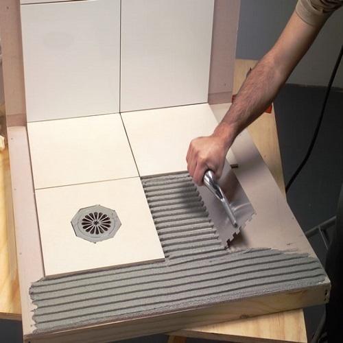 Adhesive Tile Fixing