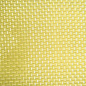 Woven fabrics containing >= 85% synthetic staple fibres by weight, dyed or made of yarn of different colours