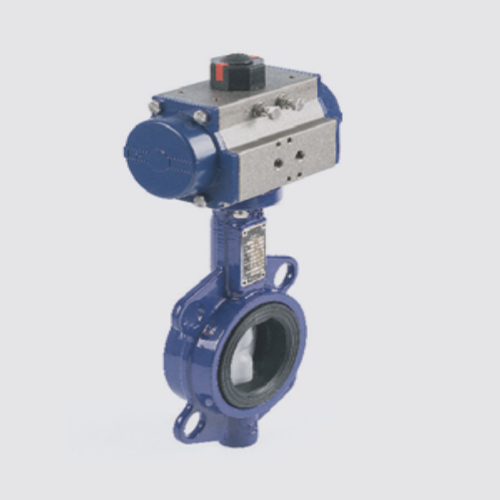 Butterfly Valve With Rotary Pneumatic Actuators