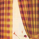 Curtains, incl. drapes, and interior blinds, curtain or bed valances of cotton