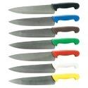 Table knives having fixed blades of base metal, incl. handles