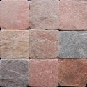 Slate, whether or not roughly trimmed or merely cut, by sawing or otherwise, into blocks or slabs of a square or rectangular shape; slate powder and slate refuse
