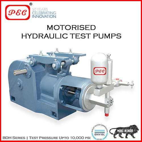 Hydraulic Motorized Test Pump