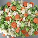 Leguminous vegetables, shelled or unshelled, uncooked or cooked by steaming or by boiling in water, frozen
