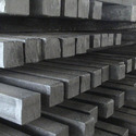 Semi-finished products of iron or non-alloy steel, containing by weight < 0,25% carbon, of rectangular cross-section, the width < twice the thickness, forged
