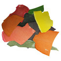 Composition leather based on leather or leather fibre, in slabs, sheets or strip, whether or not in rolls