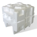 Expansible polystyrene, in primary forms