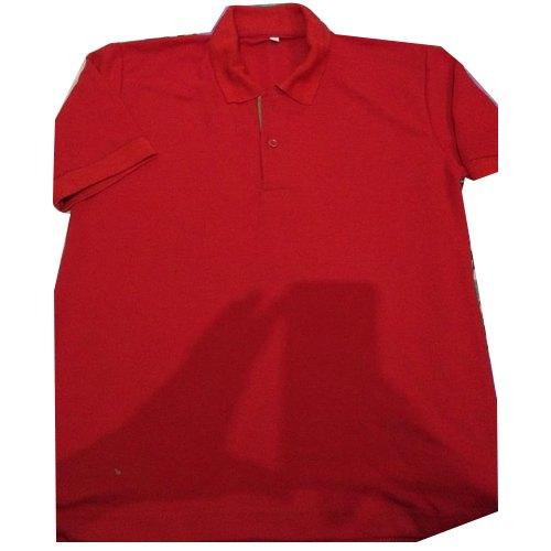 Red Collar T Shirt