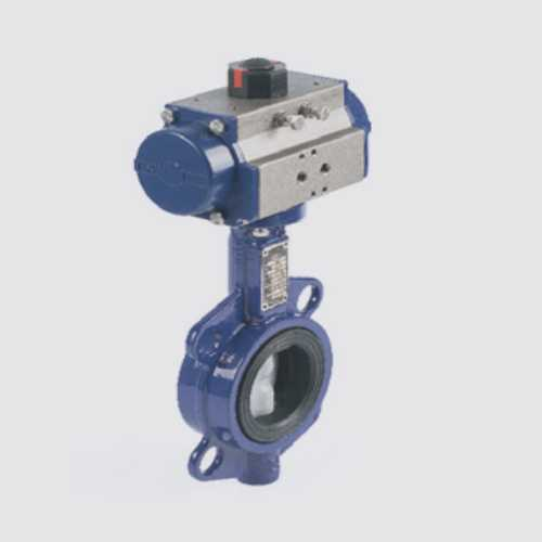 Rotary Butterfly Valve With Pneumatic Actuator