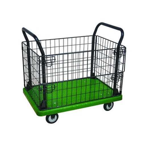100 cm Sabichi Angus Tartan Check 4 Wheel Shopping Trolley Green//Blue