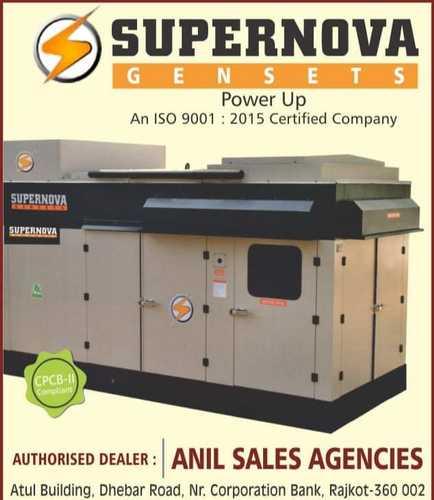 Silent Diesel Generator Sets 15 Kva To 2200 Kva