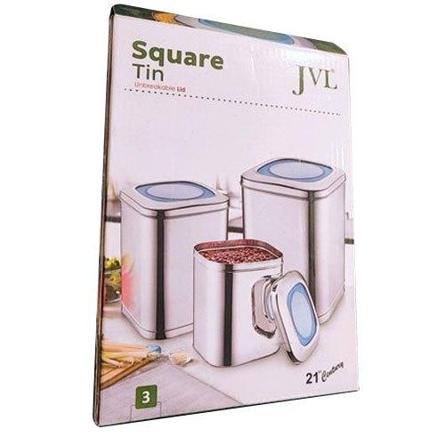 Square Tin Container