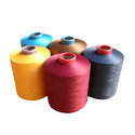 Filament yarn of polyester, incl. monofilament of < 67 decitex, single, with a twist of > 50 turns per metre