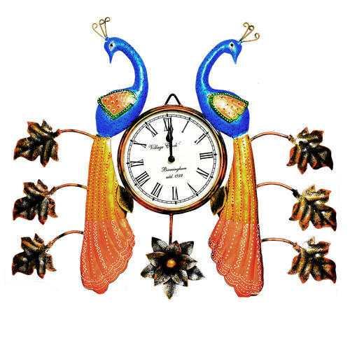 Wall Peacock Clock