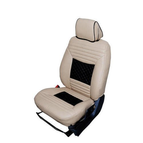 White Leather Seat Cover