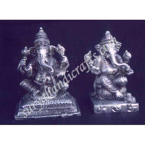 White Metal Ganesha