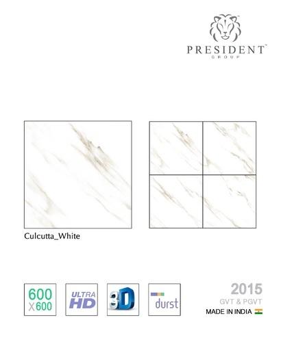 White Vitrified Tile