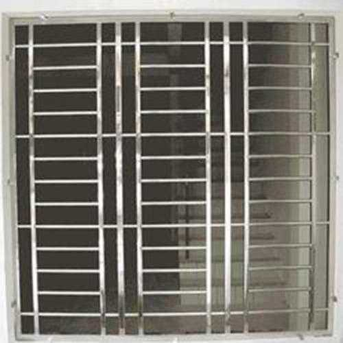 Window With Steel Grill