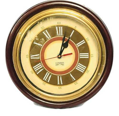Wooden And Brass Wall Clock