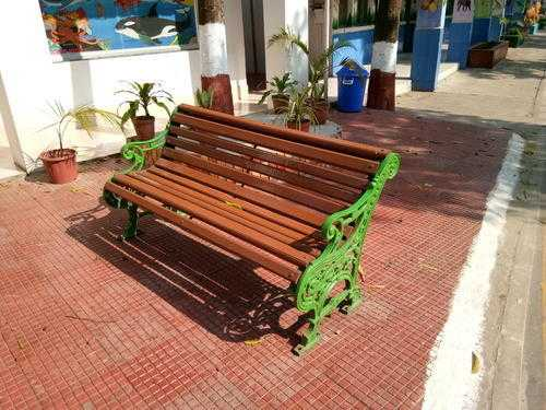 Wooden Cast Iron Bench