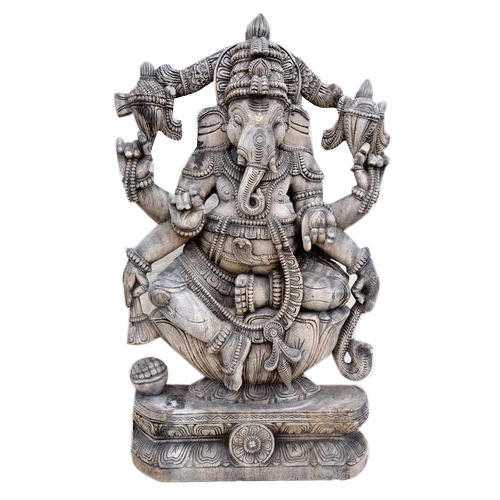 Wooden Ganesh Statues