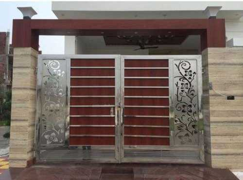 Wooden Stainless Steel Gate